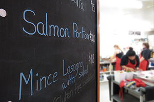 South Westland Salmon Farm menu board