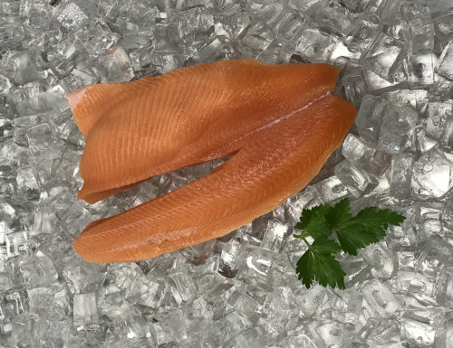 Fresh skinless salmon