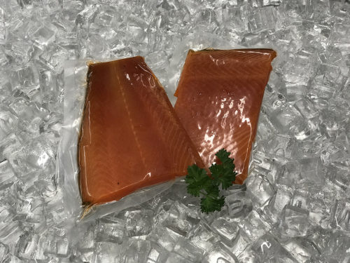 Plain smoked salmon